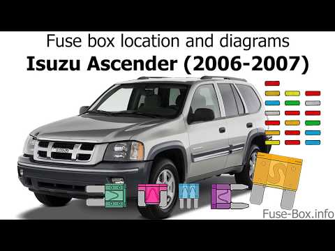 fuse box location and diagrams: isuzu ascender (2006-2007) - youtube  youtube