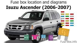 Fuse Box Location And Diagrams Isuzu Ascender 2006 2007 Youtube