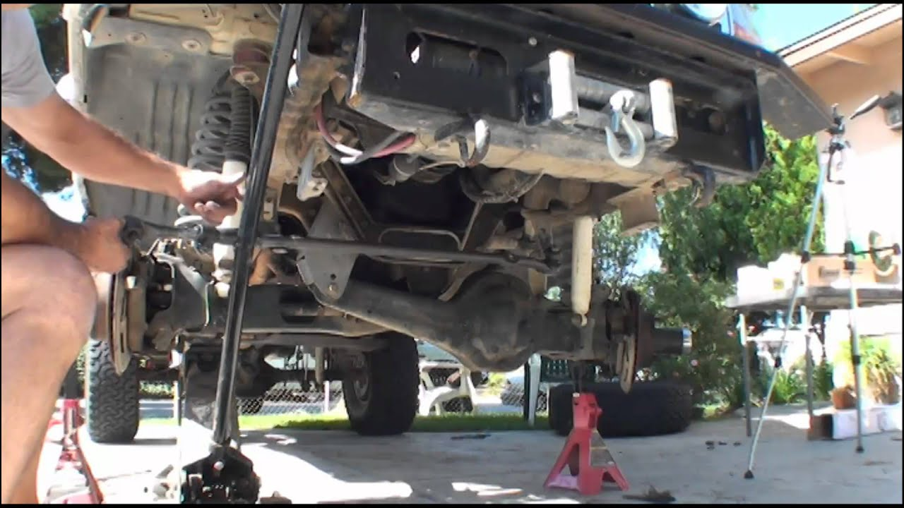 1995 ford f150 front suspension diagram pioneer deh 1300mp wiring 2 bronco tie rods youtube