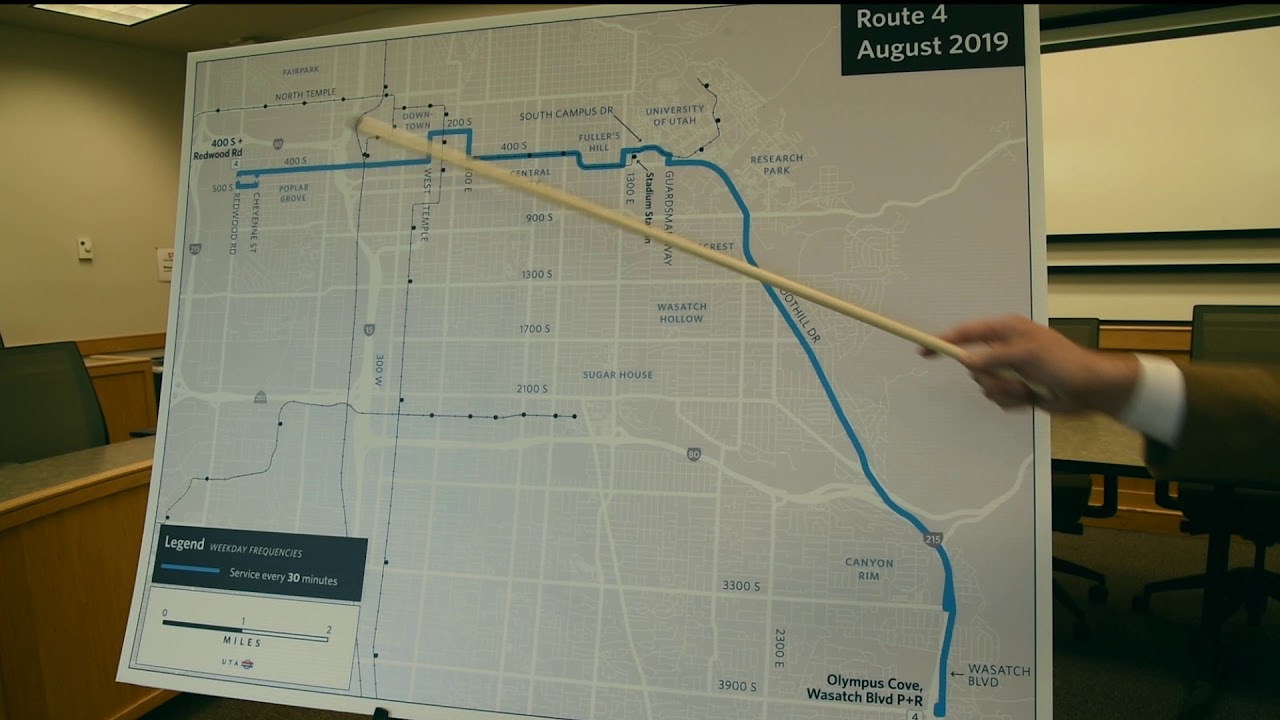 UTA August Change Day 2019 - Route 4 - 400 South / Foothill Drive - NEW  SERVICE