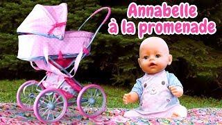 Vidéo en français de bébé born Annabelle. Promenade au parc