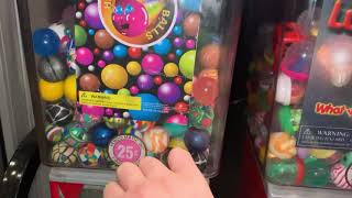 Bouncy balls out the machine