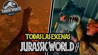 TODAS LAS ESCENAS CON DINOSAURIOS DE JURASSIC WORLD 2