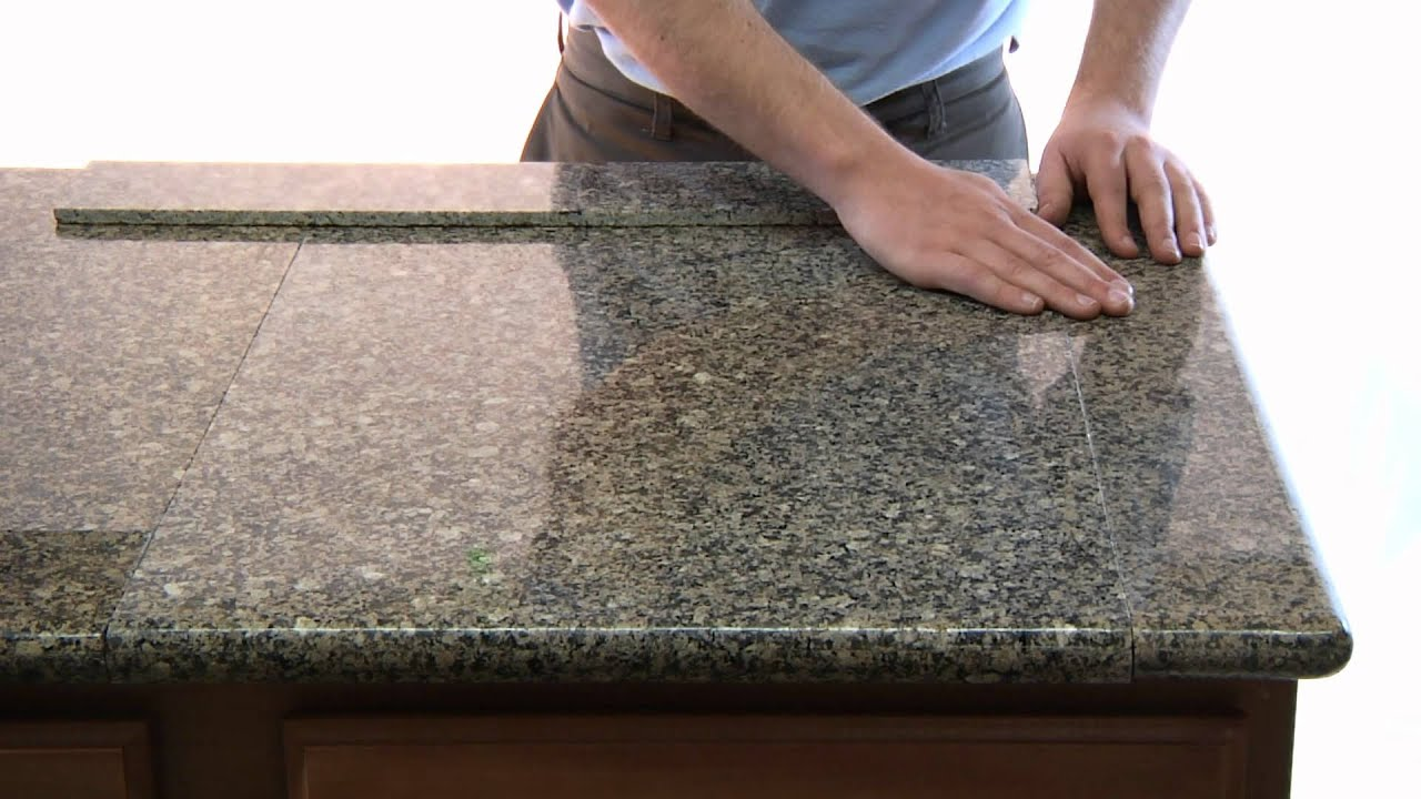 kitchen countertop cover bar stools lazy granite tile for countertops youtube