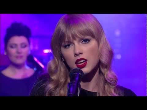 Taylor Swift - RED - Live On Letterman 2012