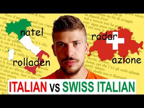 ITALIAN vs SWISS ITALIAN | Lexical differences