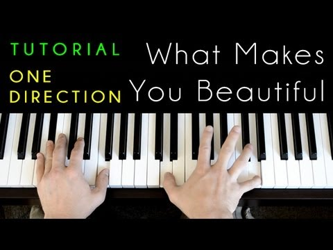 One Direction - What Makes You Beautiful (piano Tutorial & Cover)