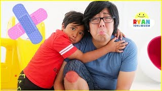 Ryan Sings The Boo Boo Kids Songs and Pretend Play Nursery Rhymes!!!