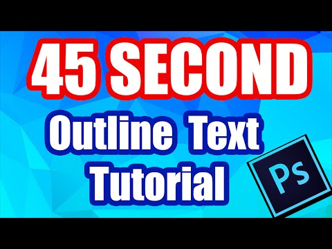 How to Outline/Stroke Text in Adobe Photoshop CC (Fast Tutorial)