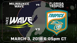 Milwaukee Wave vs Florida Tropics