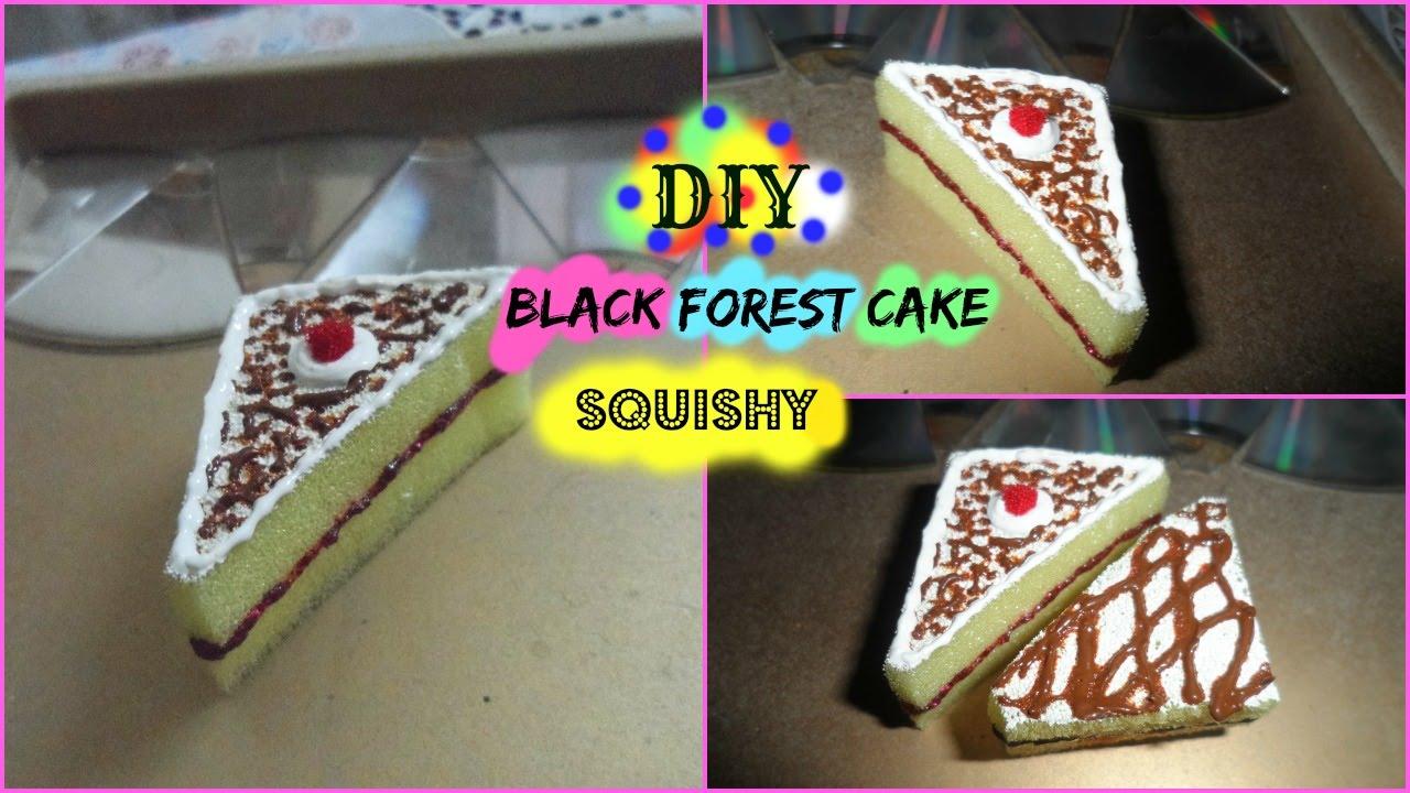 Diy Squishy Cake : DIY Black Forest cake squishy! (gift idea) - YouTube