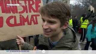 Mobilisation pour le climat en France et en Belgique.