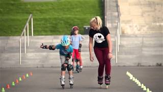Nauka freestyle slalomu na rolkach - I Love Rolki Warszawa