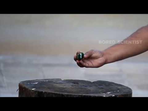 TV vs Hydrogen Cracker Experiment in Super Slow Motion | Bored Scientist