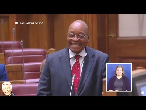 Jacob Zuma Thank God For A Question He Could Answer In NCOP