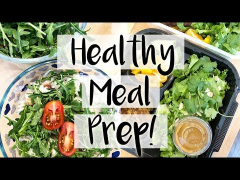 😍-healthy-meal-prep-for-the-week!-🥗-goat-cheese-&-arugula-salad-and-thai-veggie-burgers-🍔