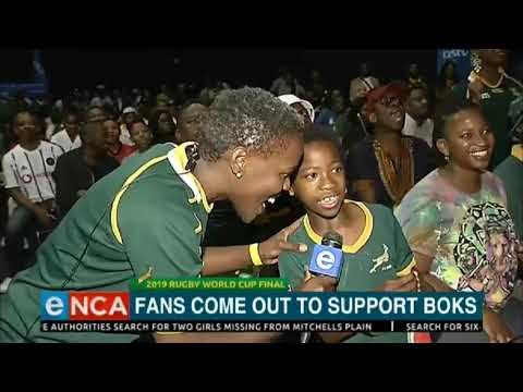Fans support Springboks: The match has begun