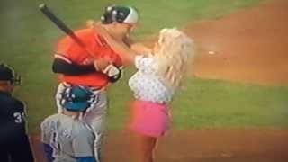 Cal Ripken, Jr. Kissed By Morganna The Kissing Bandit!