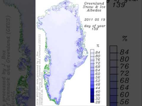 17 summers of Greenland ice albedo - daily