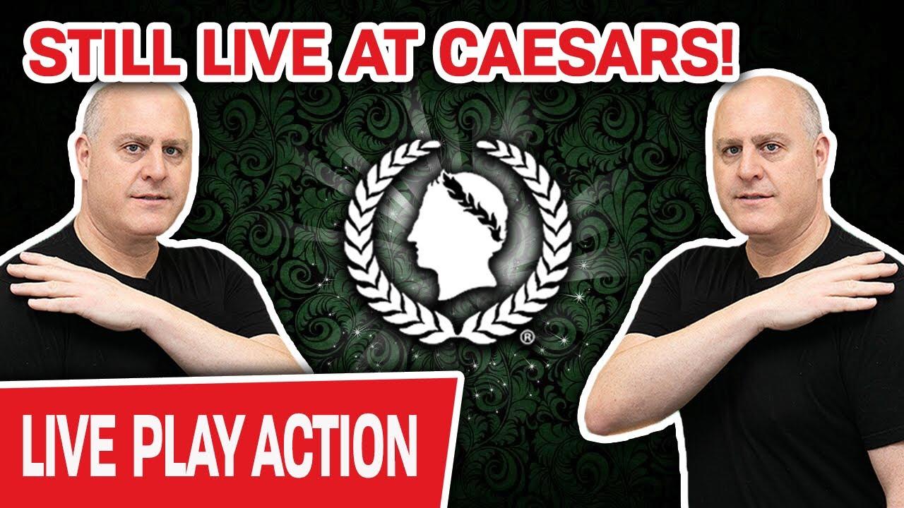 🔴 Still Live on The LAS VEGAS STRIP ✨ Caesars Palace Slots = INSANITY
