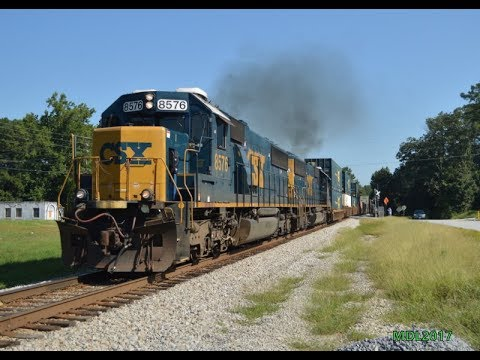 HD: Railfanning West GA/East AL CSX & NS 8/20/2017