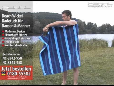 Pearl Beach Umkleide Badetuch 172 X 100 Cm Für Herren Youtube