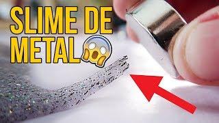 Cómo hacer MOCO MAGNÉTICO - SLIME DE METAL (Experimentos C...