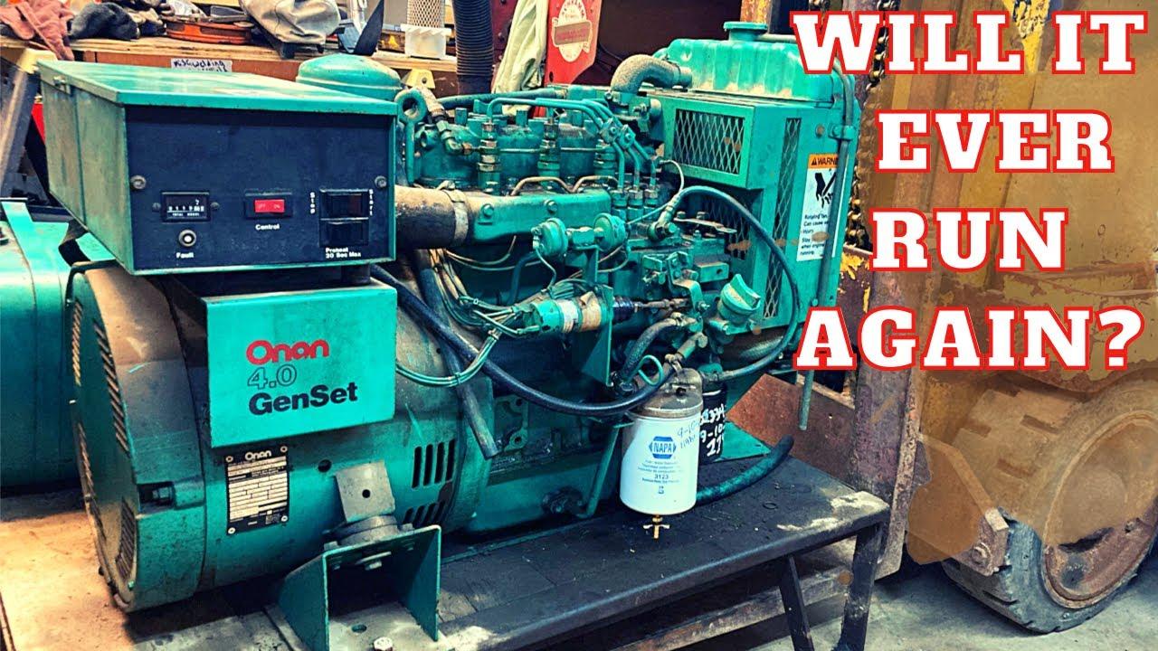 Onan Diesel Generator was in a FLOOD! (Full of water) Will it run???