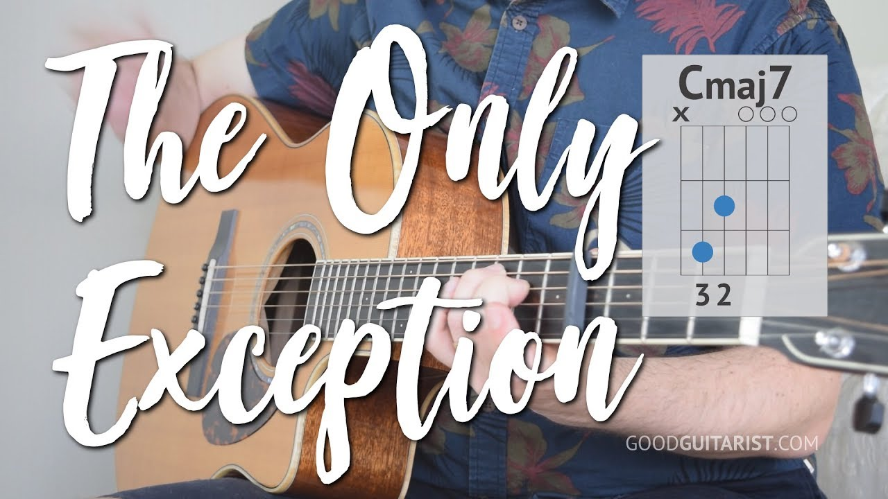 The Only Exception Guitar Tutorial Paramore 3 Chord Song Youtube