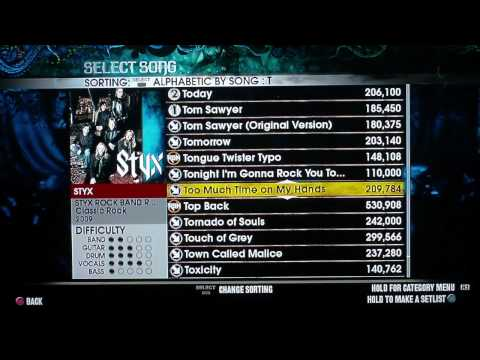 Rock Band 2: 1,647 Song Setlist Scroll (All Vocal Songs FCed)