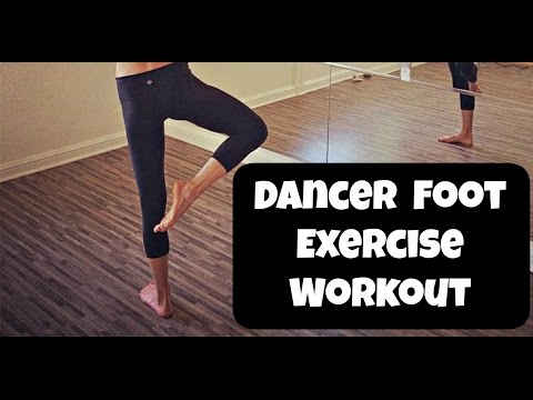 Dancer Foot Exercise Workout Video. 10 minute Foot and Ankle Routine.
