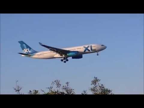 Marseille Provence Airport A330 XL Airways Bumpy landing !!