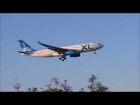Marseille Provence Airport A330 XL Airways Bumpy landing !!