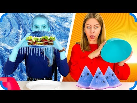 Замороженная Еда против Обычной ! Выбери правильно!!
