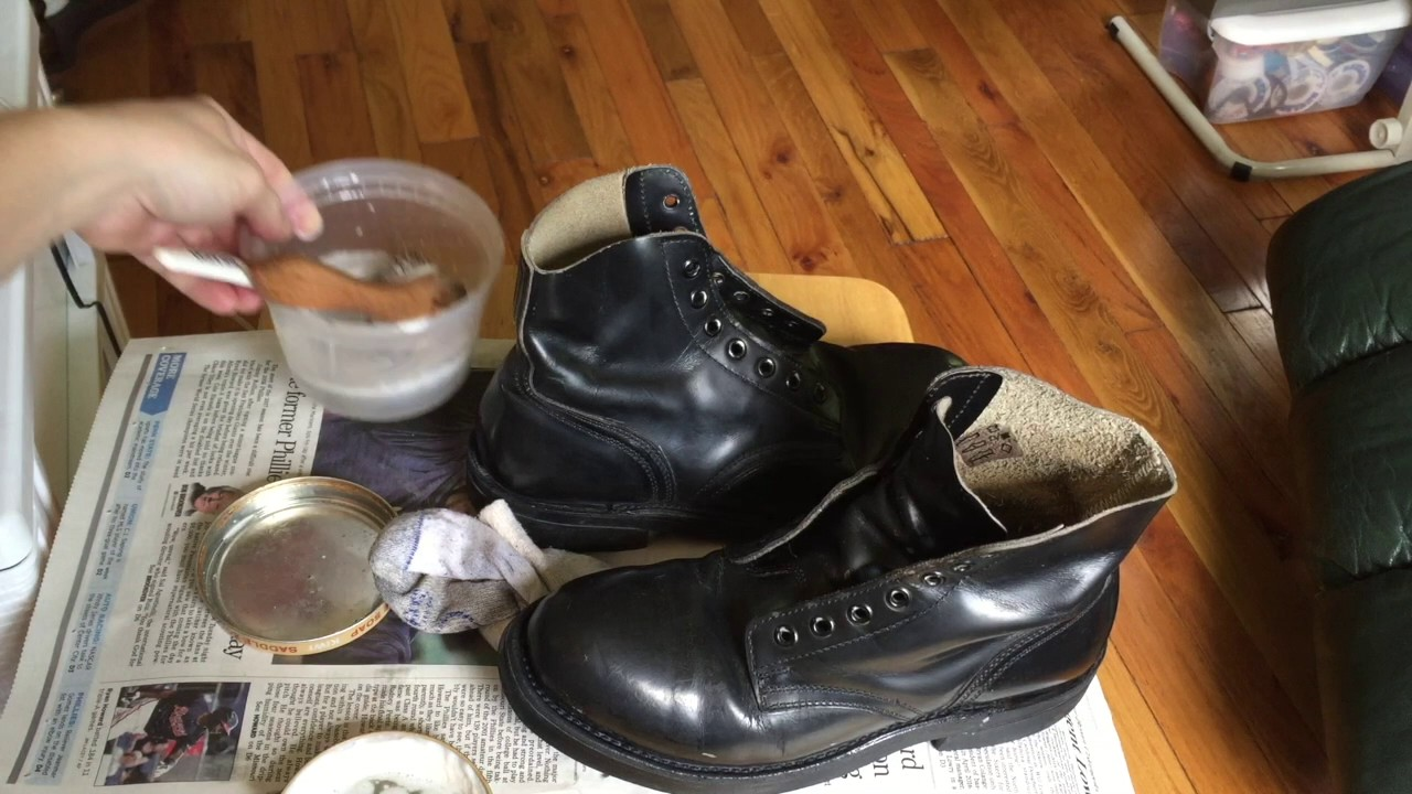 boot shine part 1 canadian military parade boots youtube