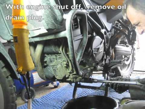 Bmw F650gs Twin Oil Change Youtube