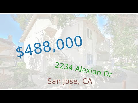 $488,000 San Jose home for sale on 2020-12-04 (2234 Alexian Dr, CA, 95116)