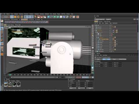 Cinema 4D Tutorial - Minigun Part 8 - Fixing some problems with Thinking Particles.