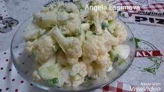 Салат из цветной капусты! Вкусно и легко!