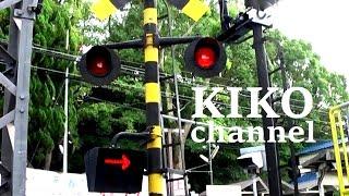 関西の電車の踏切音 近鉄電車通過集 近鉄奈良線の枚岡2号から railroad crossing japan thumbnail