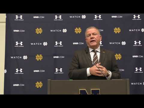 Notre Dame Head Coach Brian Kelly Pre-Stanford Press Conference