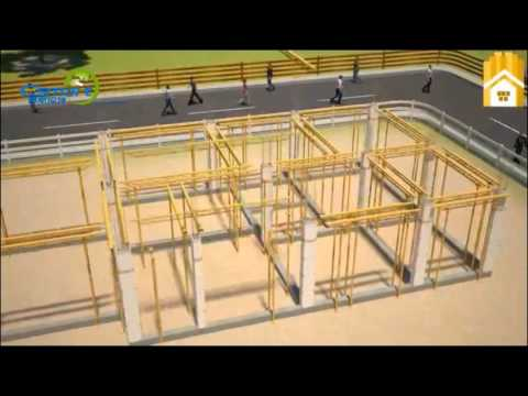 3D Video of E Smart Magnesium Mineral Board Used as Non   Removal Building Templates