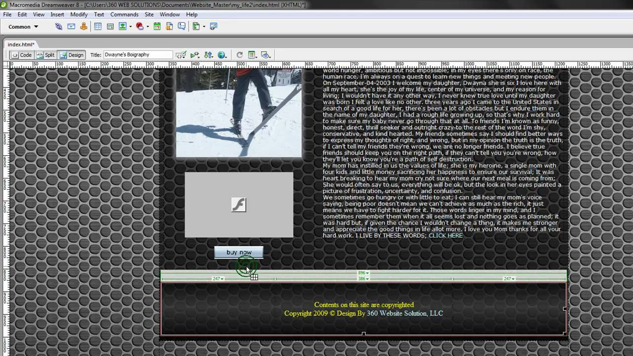 how to add flash buttons in dreamweaver cs5