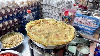 India's Biggest 30 Egg Omelet   Most Loaded Buttery Omelette   Indian Street Food