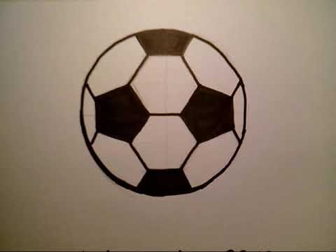 How To Draw A Soccer Ball como dibujar una pelota futbol FIFA