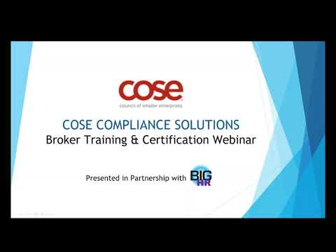 COSE Compliance Solutions for Brokers!