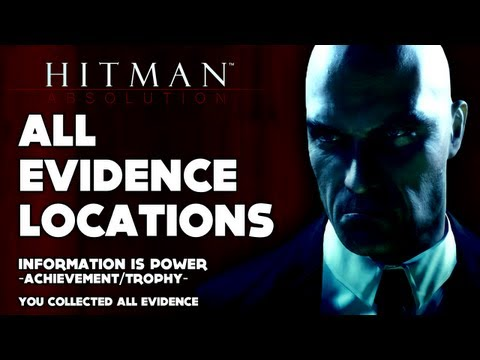 Hitman: Absolution - All Evidence Locations ('Information Is Power' Achievement / Trophy Video Guide)