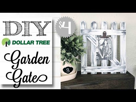 DIY Dollar Tree Garden Gate | $4.00 PROJECT!
