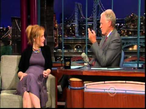 Gillian Anderson on Letterman 2008