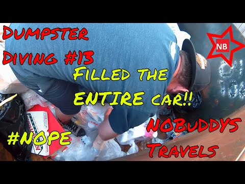 Dumpster diving #13 Redemption! so much stuff we had to stop car was full!!!